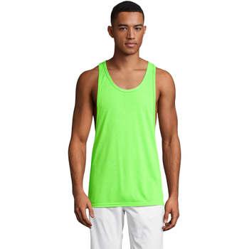 vaatteet Miehet Hihattomat paidat / Hihattomat t-paidat Sols Jamaica camiseta sin mangas Verde