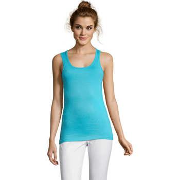 vaatteet Naiset Hihattomat paidat / Hihattomat t-paidat Sols Jane - CAMISETA MUJER SIN MANGAS Azul