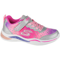 kengät Lapset Fitness / Training Skechers Power Petals-Painted Daisy Argent