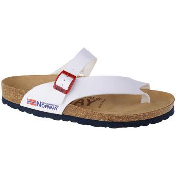 kengät Naiset Varvassandaalit Geographical Norway Sandalias Infradito Donna Blanc