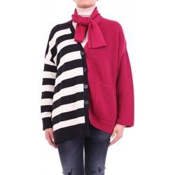 vaatteet Naiset Neuleet / Villatakit Semicouture W0SS0WG06 Bordeaux and black