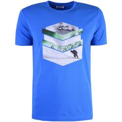 vaatteet Miehet Lyhythihainen t-paita Bikkembergs  Sininen