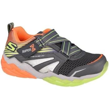 kengät Lapset Matalavartiset tennarit Skechers Rapid Flash 20SOLUXE Grafiitin väriset