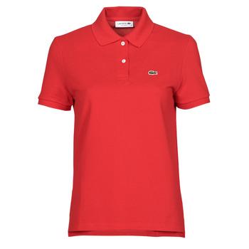 vaatteet Naiset Lyhythihainen poolopaita Lacoste POLO REGULAR FIT PF7839 Punainen