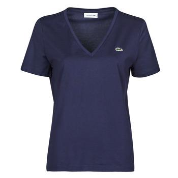 vaatteet Naiset Lyhythihainen t-paita Lacoste LOUIS Laivastonsininen