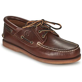 kengät Purjehduskengät Timberland Classic Boat 3 Eye Padded Collar Ruskea