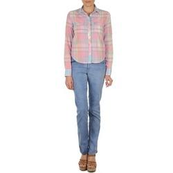 vaatteet Naiset Suorat farkut Gant DANA SPRAY COLORED DENIM PANTS Sininen