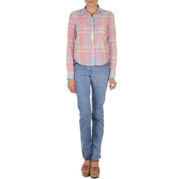 vaatteet Naiset Suorat farkut Gant DANA SPRAY COLORED DENIM PANTS Blue