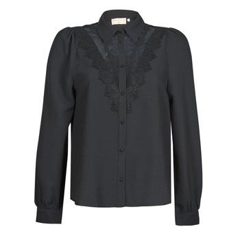 vaatteet Naiset Paitapusero / Kauluspaita Moony Mood ABBECOURS Musta