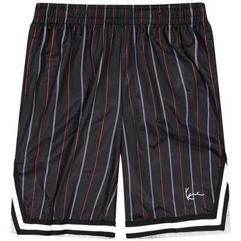 vaatteet Miehet Shortsit / Bermuda-shortsit Karl Kani Short  Small Signature Pinstripe Mesh noir/bleu/rouge