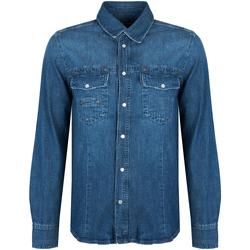 vaatteet Miehet Pitkähihainen paitapusero Bikkembergs  Sininen