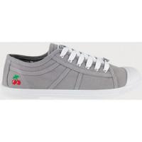 kengät Naiset Tenniskengät Le Temps des Cerises Basic 02 Harmaa