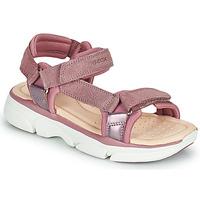 kengät Tytöt Sandaalit ja avokkaat Geox J SANDAL LUNARE GIRL Vaaleanpunainen