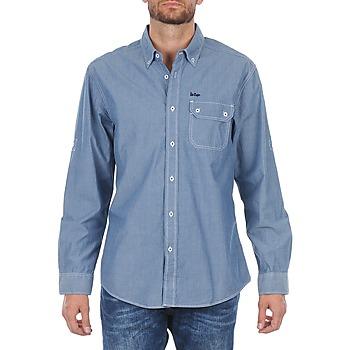 vaatteet Miehet Pitkähihainen paitapusero Lee Cooper Greyven Blue