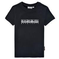 vaatteet Pojat Lyhythihainen t-paita Napapijri S-BOX SS Musta