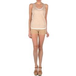 vaatteet Naiset Shortsit / Bermuda-shortsit Majestic SOLENE Beige