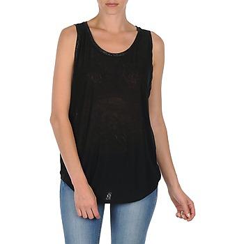 vaatteet Naiset Hihattomat paidat / Hihattomat t-paidat Majestic MANON Black