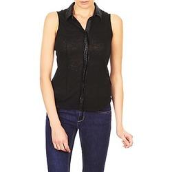 vaatteet Naiset Lyhythihainen paitapusero Majestic ZOE Musta
