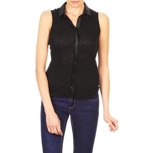 vaatteet Naiset Lyhythihainen paitapusero Majestic ZOE Black