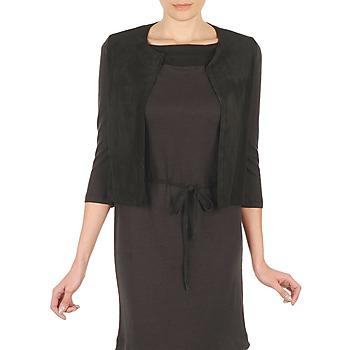 vaatteet Naiset Neuleet / Villatakit Majestic BERENICE Black