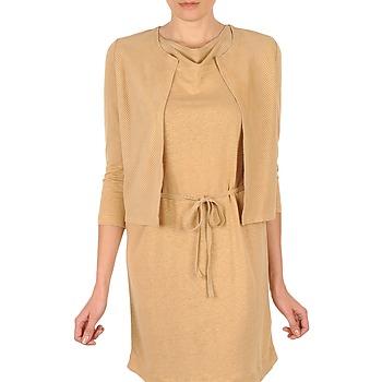 vaatteet Naiset Neuleet / Villatakit Majestic BERENICE Beige