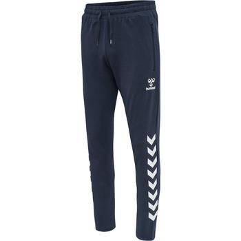 vaatteet Miehet Verryttelyhousut Hummel Pantalon  hmlray 2.0 tapered bleu foncé