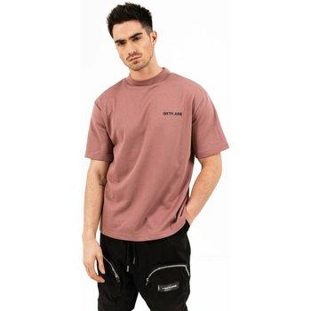 vaatteet Miehet Lyhythihainen t-paita Sixth June T-shirt  essential rose
