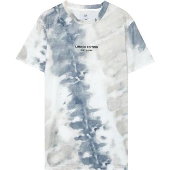 vaatteet Miehet Lyhythihainen t-paita Sixth June T-shirt  tie dye beige