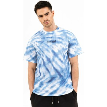 vaatteet Miehet Lyhythihainen t-paita Sixth June T-shirt  tie dye bleu