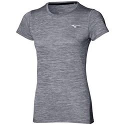 vaatteet Naiset Lyhythihainen t-paita Mizuno Impulse Core Tee Harmaat
