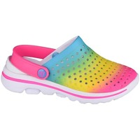 kengät Tytöt Puukengät Skechers GO Walk 5 Play BY Play Vaaleansiniset, Vaaleanpunaiset