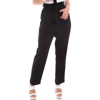 vaatteet Naiset Väljät housut / Haaremihousut Gaudi 011BD25040 Musta