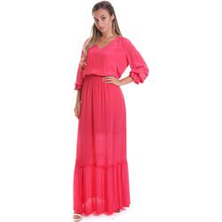 vaatteet Naiset Pitkä mekko Gaudi 011FD15029 Vaaleanpunainen