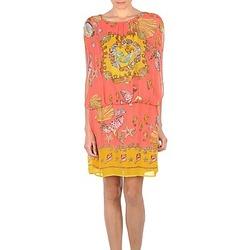vaatteet Naiset Lyhyt mekko Derhy ACCORDABLE Pink / Yellow