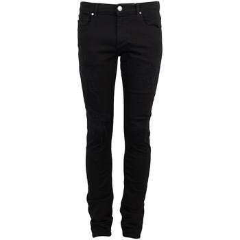 vaatteet Miehet 5-taskuiset housut Bikkembergs  Musta