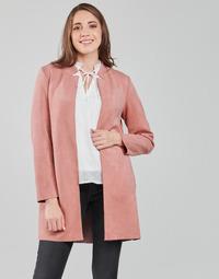 vaatteet Naiset Paksu takki Only ONLSOHO Vaaleanpunainen