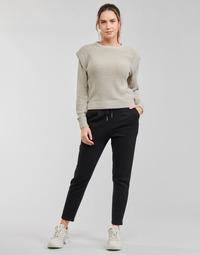 vaatteet Naiset Chino-housut / Porkkanahousut Only ONLPOPSWEAT Musta