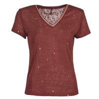 vaatteet Naiset Lyhythihainen t-paita Only ONLSTEPHANIA Viininpunainen