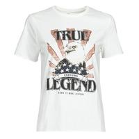vaatteet Naiset Lyhythihainen t-paita Only ONLLUCY Valkoinen