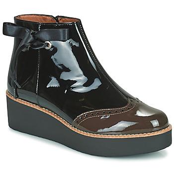 kengät Naiset Bootsit Fericelli JANDICI Musta / Ruskea