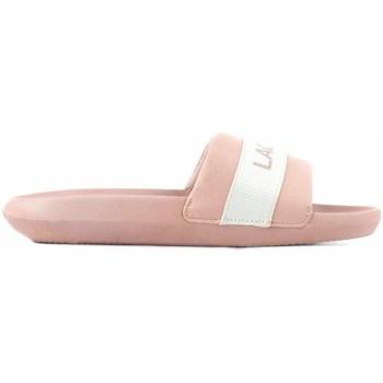 kengät Naiset Rantasandaalit Lacoste Croco Slide Vaaleanpunaiset