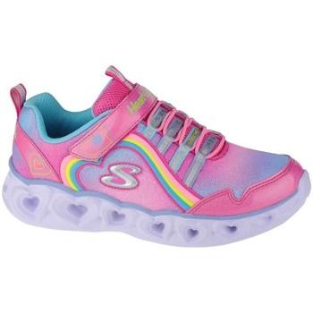 kengät Tytöt Fitness / Training Skechers Heart Lights Rainbow Lux Vaaleanpunaiset