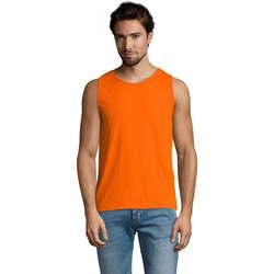 vaatteet Miehet Hihattomat paidat / Hihattomat t-paidat Sols Justin camiseta sin mangas Naranja