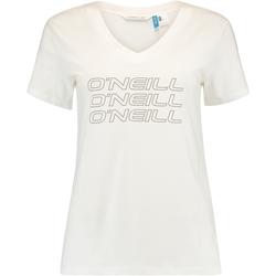 vaatteet Naiset Lyhythihainen t-paita O'neill Triple Stack Valkoinen