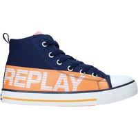 kengät Lapset Korkeavartiset tennarit Replay GBV24 .003.C0001T Sininen