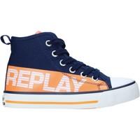 kengät Lapset Korkeavartiset tennarit Replay GBV24 .322.C0001T Sininen