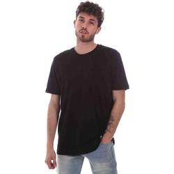 vaatteet Miehet Lyhythihainen t-paita Key Up 2M915 0001 Musta