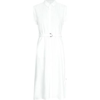 vaatteet Naiset Pitkä mekko Calvin Klein Jeans K20K202954 Valkoinen