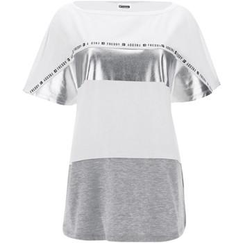 vaatteet Naiset Lyhythihainen t-paita Freddy S1WSDT2M Valkoinen