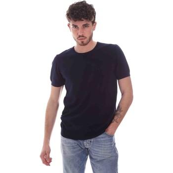 vaatteet Miehet Lyhythihainen t-paita Gaudi 111GU53004 Sininen
